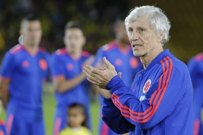José Pékerman, le sélectionneur de la Colombie, le 25 mai à Bogota.