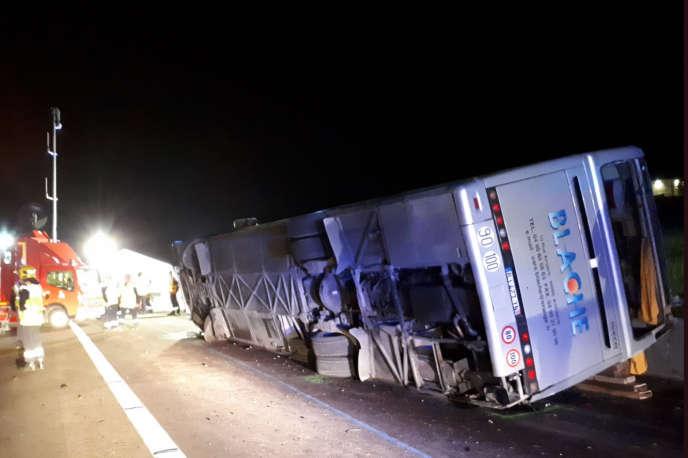 L'accident s'est produit sur l'autoroute A7 au niveau de Chantemerle-les-Blés, à 25km au nord de Valence, le 26 mai.