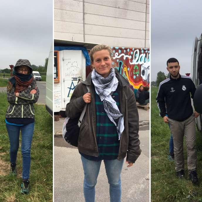 Julia, Mathilde et Naguib font partie des nombreux bénévoles présents avec les migrants, à Calais.