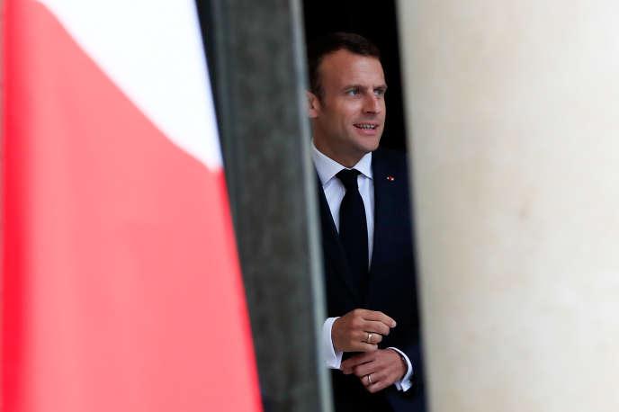 Emmanuel Macron au palais de l'Elysée, le 15 mai.