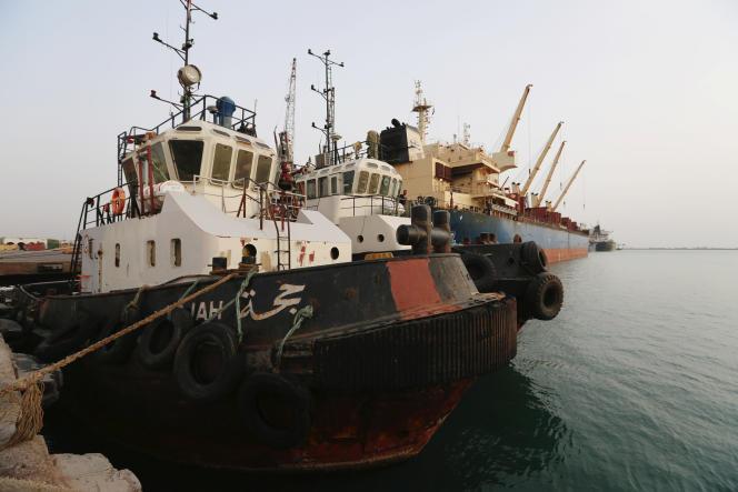 Le port d'Hodeïda, au Yémen, le 27 mai.