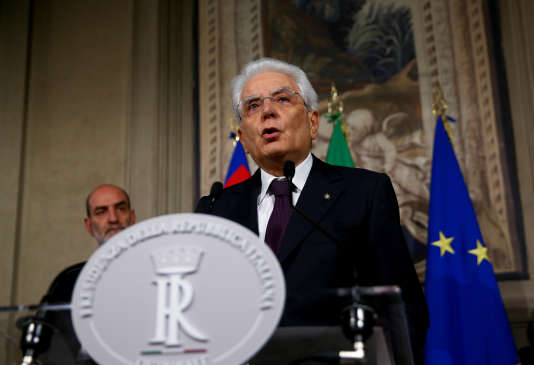 Sergio Mattarella, le 27 mai à Rome.