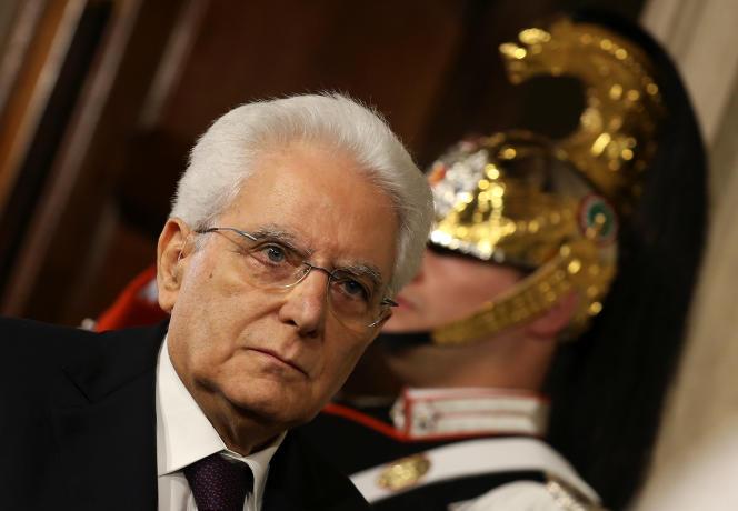 Le président italien, Sergio Mattarella, à Rome, le 27 mai.