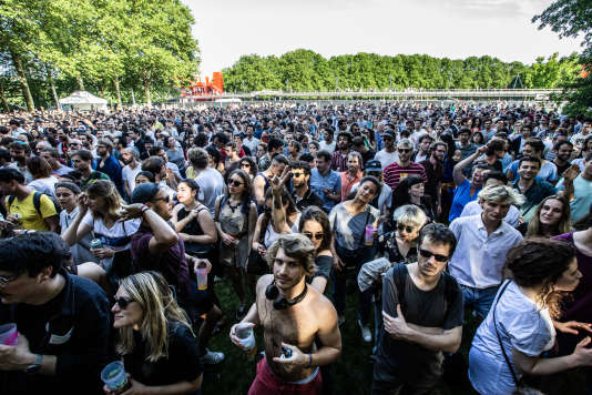 Concert en plein air à Villette Sonique, le 26 mai 2018.