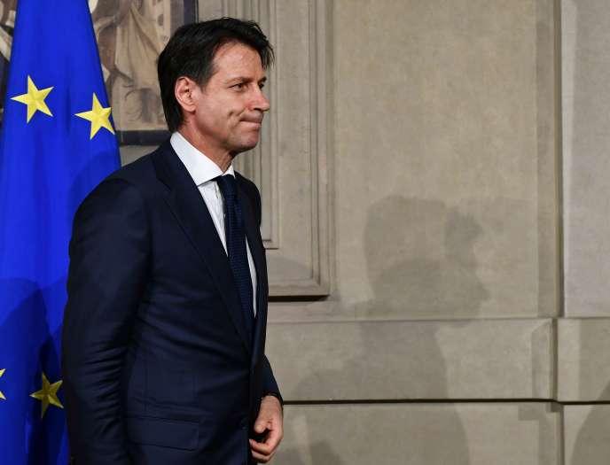 Giuseppe Conte après son entretien avec Sergio Mattarella, dimanche 27 mai.