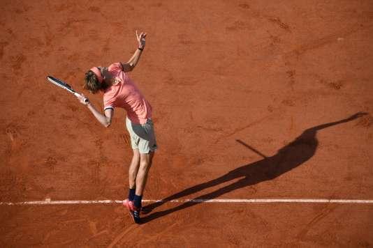 Alexander Zverev, le 27 mai 2018 à Roland Garros.