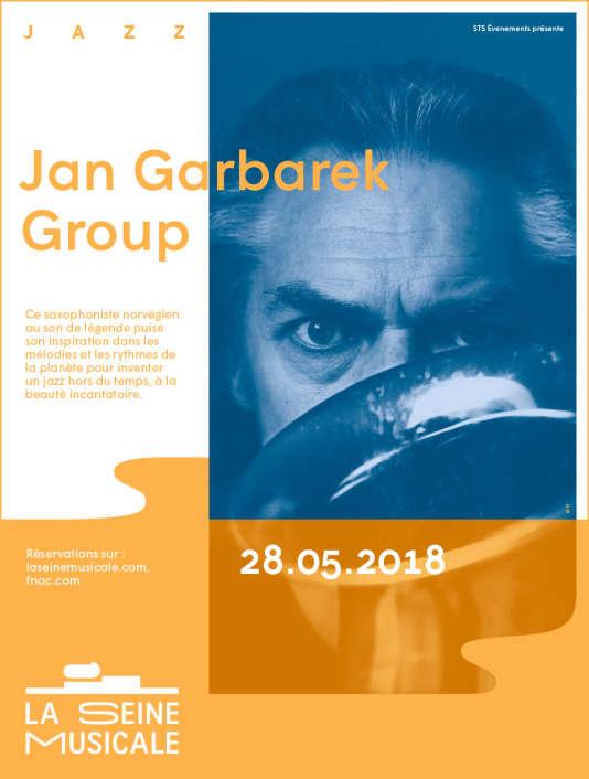 Affiche du concert de Jan Garbarek à La Seine musicale.