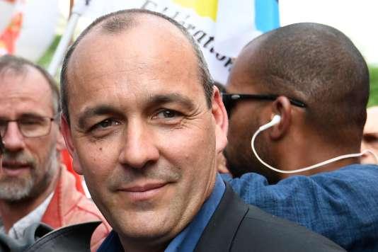 Le secrétaire général de la CFDT, Laurent Berger, lors de la manifestation des fonctionnaires, à Paris, le 22 mai.