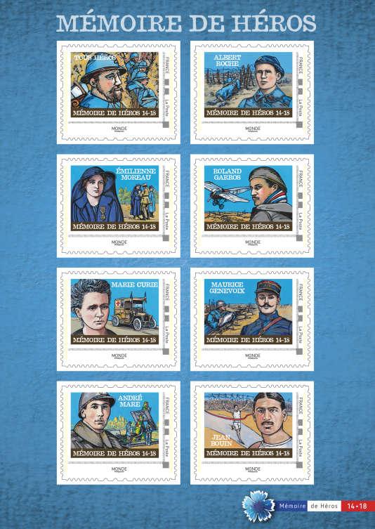 Tirage de 30000 exemplaires pour ce«collector» de huit timbres (validité pour le monde entier), vendu 15 euros.