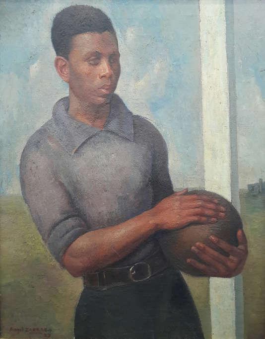 Le Jeune footballeur de Angel Zarraga, 1927. Huile sur toile.