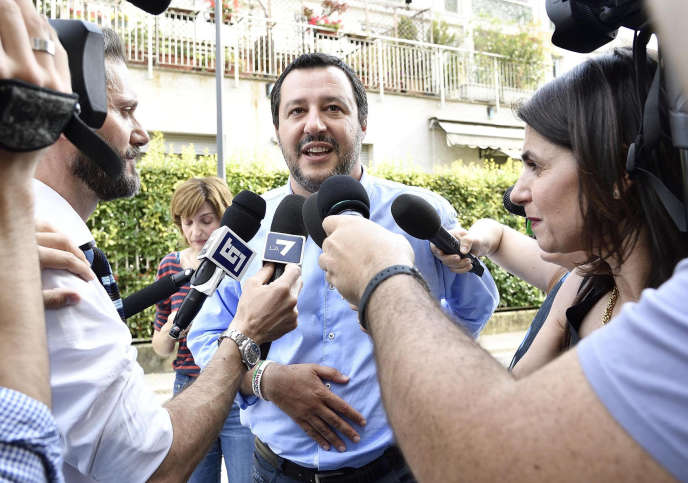 Matteo Salvini, à Milan, le 26 mai 2018.