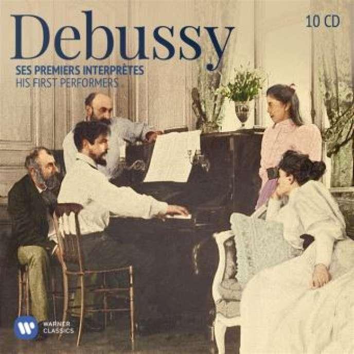Pochette du coffret« Ses premiers interprètes», consacré à Claude Debussy.