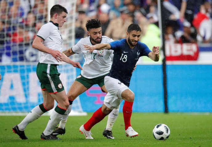 Nabil Fekir, auteur du deuxième but des Bleus face aux Irlandais.