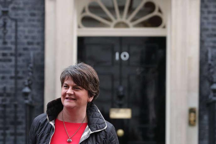 Arlene Foster, la cheffe du Parti démocratique unioniste d'Irlande du Nord (DUP), à Londres, en novembre 2017.