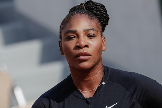 Serena Williams assiste à une séance d'entraînement à Roland Garros, à Paris, le 25 mai.