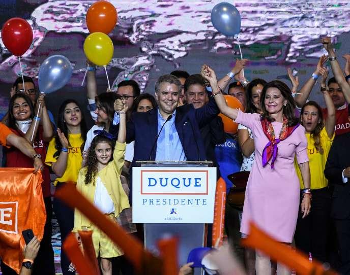 Ivan Duque, à Bogota, le 27 mai.