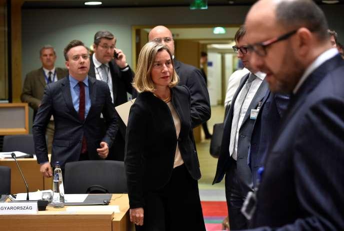 La haute représentante de l'Union pour les affaires étrangères et la politique de sécurité,Federica Mogherini, à Bruxelles, le 28 mai.