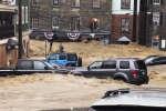 Des torrents de pluie et de boue ont envahi les rues et les habitations de la ville d'Ellicott city dans le Maryland aux Etats-Unis.