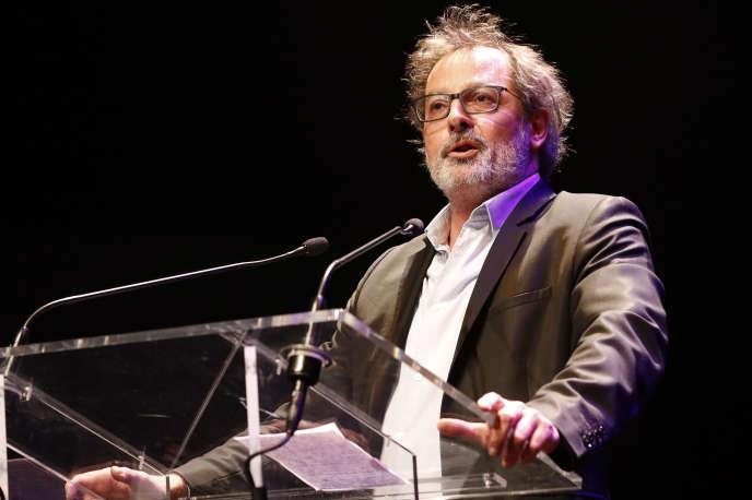 L'humoriste Christophe Alévêque à la Philharmonie de Paris, en mai 2017.