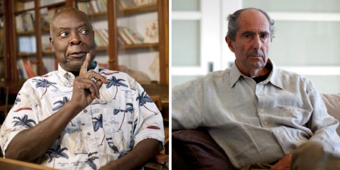 Les écivains congolais Emmanuel Dongala et américain Philip Roth.