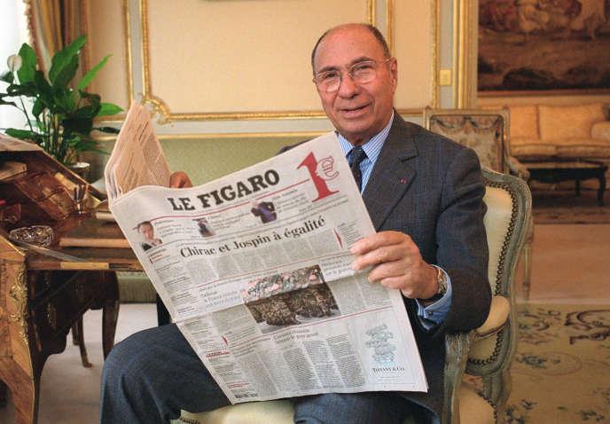 Serge Dassault, à Paris, en février 2002.