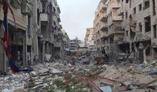 Harasta, dans la Ghouta orientale, le 26mars 2018.