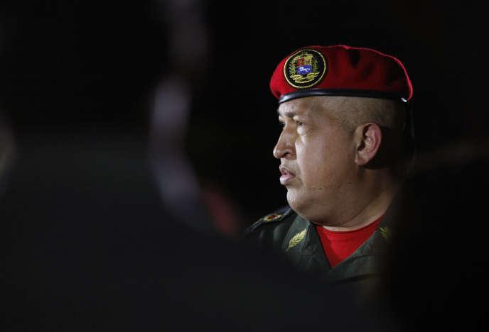 Hugo Chavez à son retour de Cuba, le 14 août 2011, après avoir annoncé son cancer,