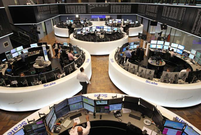 Bourse de Francfort, le DAX, le 24 avril 2017.