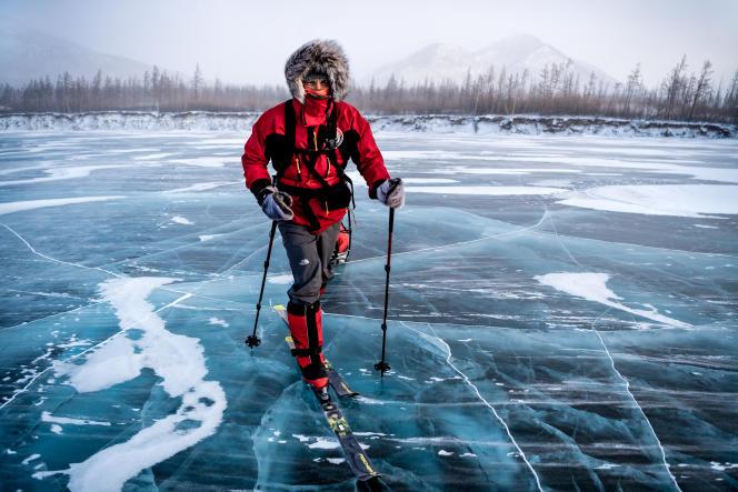 Un des quatre lieux extrêmes traversés par Christian Clot sont les monts de Verkhoïansk, en Russie orientale, où règne une température, sous la tente, de –55°C.