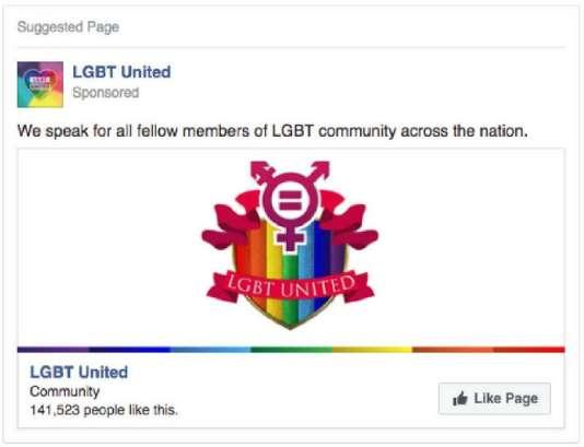 65% des publicités financées par la Russie et repérées par Facebook affichent leur soutien aux causes noires, LGBT ou latinos.