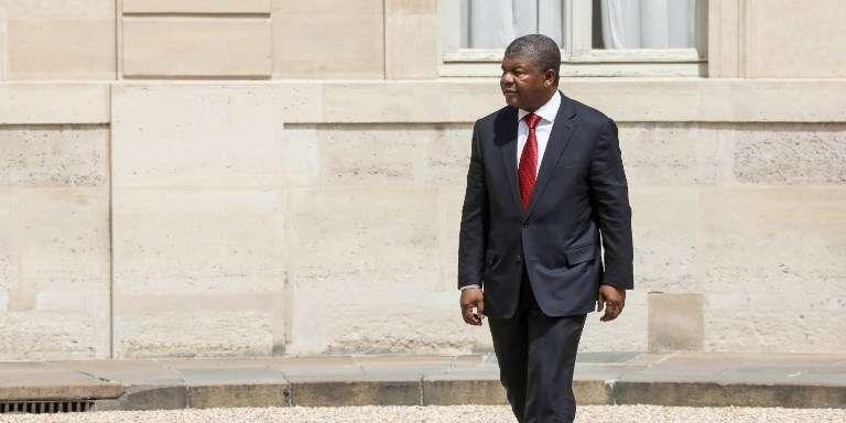Le président angolais, Joao Lourenço, au palais de l'Elysée, à Paris, le 28mai 2018.