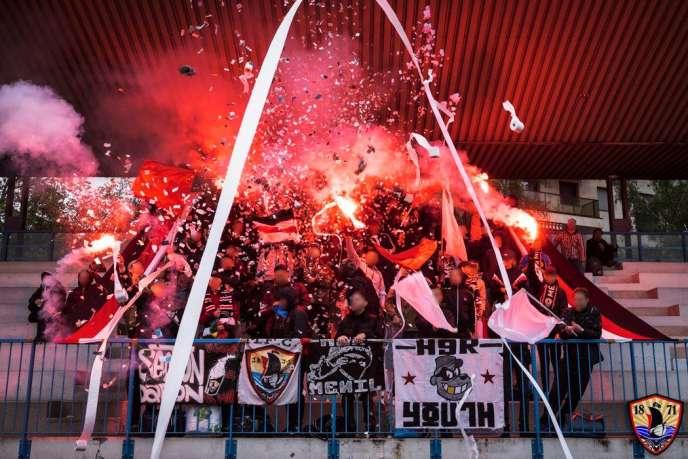 Photo prise par le Ménilmontant Football Club, le 22 mai, lors du 1er tour de la Coupe de France.