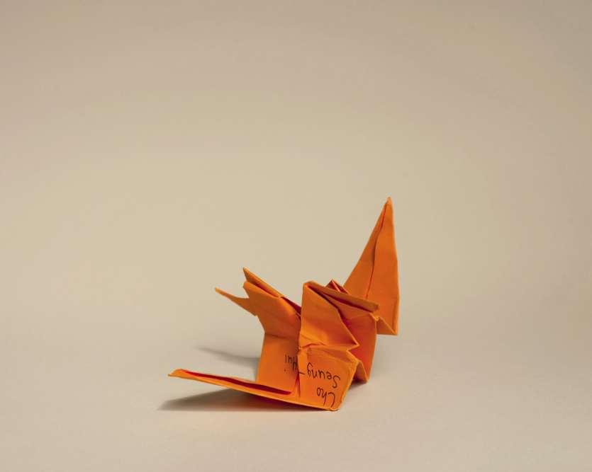 Les oiseaux (des grues) en origami sont envoyés par milliers par les Américains après les tragédies. La tradition vient de l'histoire d'une petite Japonaised'Hiroshima, qui voulut réaliser 1 000 pliages avant de mourir, en 1955, à12 ans, d'une leucémie. La légende dit que celui qui y parvient voit ses désirs exaucés. Un récit repris dans un conte très populaire aux Etats-Unis.
