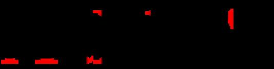 En rouge, ce que l'on appelle les « empattements ».