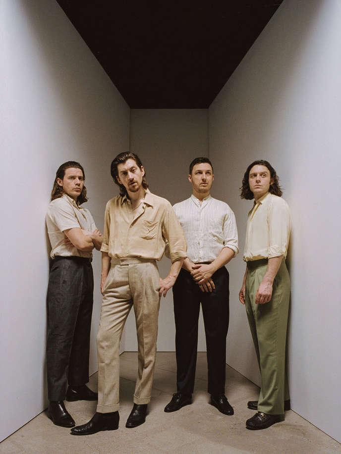 Le groupe Actic Monkeys dans les studios de Saint Ouen, en mars 2018.