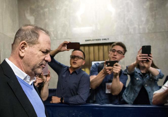 L'ancien producteur Harvey Weinstein arrive le 25 mai au tribunal de New York.