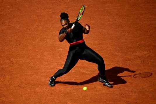 La« combinaison du Wakanda» de Serena Williams, mardi29mai à Roland-Garros.