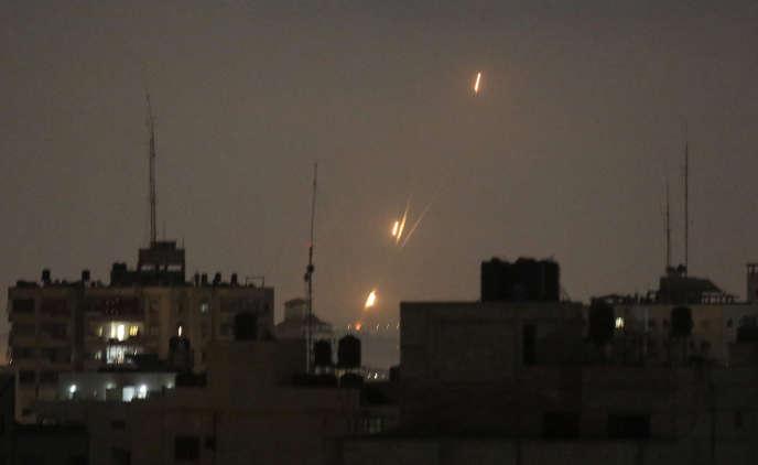 Des roquettes tirées sur Israël depuis Gaza à l'aube mercredi30 mai.