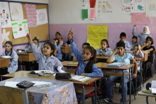 Au Liban, une des écoles tenues par l'agence onusienne pour les réfugiés palestiniens, UNRWA.