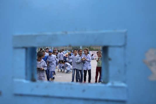 Au Liban, une des écoles tenues par l'agence onusienne pour les réfugiés palestiniens,UNRWA.