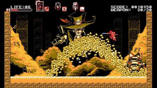 A la manière de Megaman,«Bloodstained: Curse of the Moon» joue habilement de la variété des niveaux, des ennemis et des compétences.