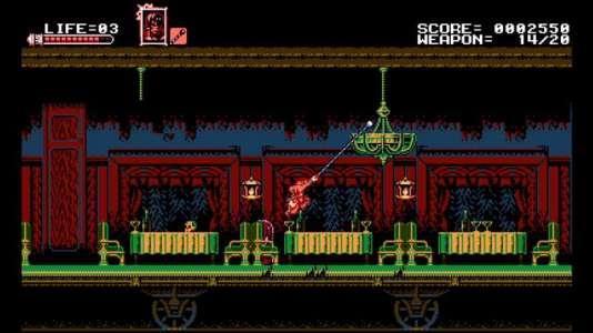 Le héros de « Bloodstained: Curse of the Moon», Zangestu, a parmi ses coups spéciaux un fouet à la manière de Simon Belmont dans le premier «Castlevania».