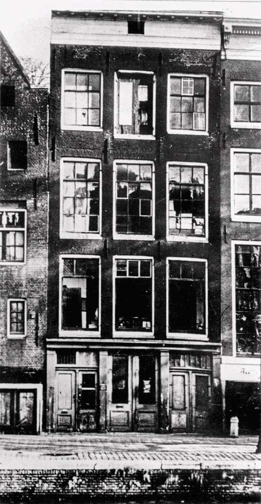Anne Frank,sa famille et leurs amis se cachaient au 263, Prinsengracht à Amsterdam.