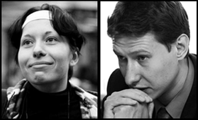 La journalisteAnastasia Babourova et l'avocat Stanislav Markelov.