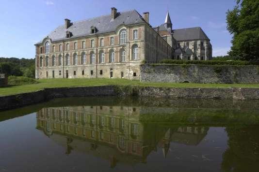 L'abbaye de Saint-Michel, en Thiérache, dans l'Aisne.