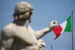 Un drapeau italien, le 30 mai 2018, à Rome.