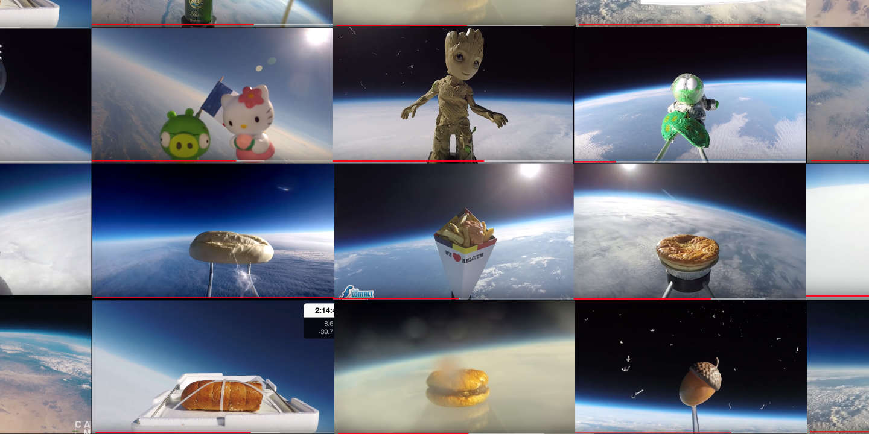 youtube youtubeurs espace stratosphère ballon helium caméra