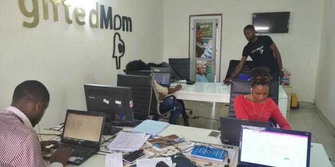 Les locaux de la start-up GiftedMom, à Yaoundé, au Cameroun.