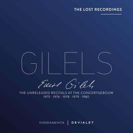 Pochette du coffret«The Unreleased Recitals at The Concertgebouw», d'Emil Gilels.
