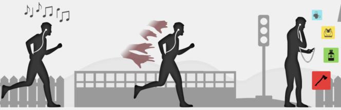 Zombies, Run! vise à rendre la course à pied plus ludique grâce au son.